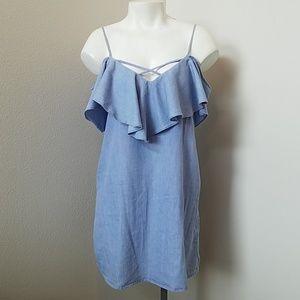 Papaya Blue Chambray Summer Dress